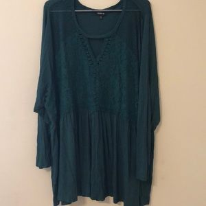 NWOT green blouse